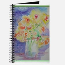 Floral Bouquet! Daffodils in vase! Journal
