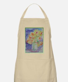 Floral Bouquet! Daffodils in vase! Apron