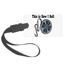 How I Roll Movie Film Tape.png Luggage Tag
