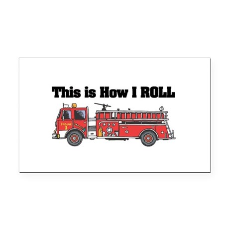 fire truck.png Rectangle Car Magnet