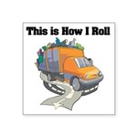 3-garbage truck.png Square Sticker 3
