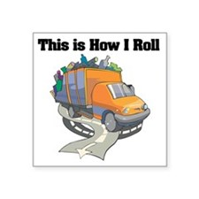 """3-garbage truck.png Square Sticker 3"""" x 3"""""""