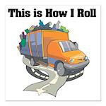 3-garbage truck.png Square Car Magnet 3