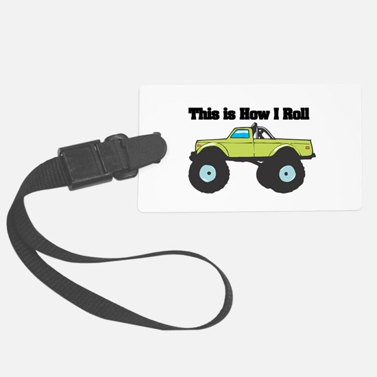 monster truck.png Large Luggage Tag