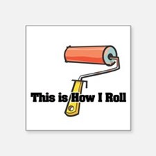 """paint roller.png Square Sticker 3"""" x 3"""""""