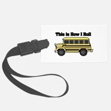 short yellow bus.png Luggage Tag