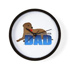 Chocolate Labrador Retriever Dad Wall Clock