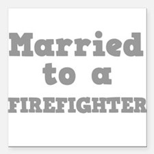 "FIREFIGHTER.png Square Car Magnet 3"" x 3"""