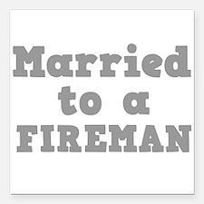 "FIREMAN.png Square Car Magnet 3"" x 3"""