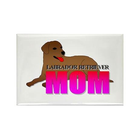 Labrador Retriever Mom Rectangle Magnet (100 pack)