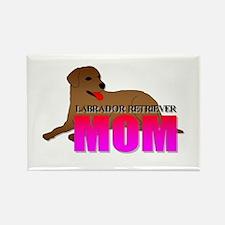 Labrador Retriever Mom Rectangle Magnet