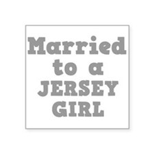 """JERSEY GIRL.png Square Sticker 3"""" x 3"""""""