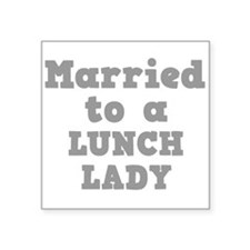 """LUNCH LADY.png Square Sticker 3"""" x 3"""""""