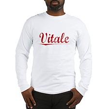Vitale, Vintage Red Long Sleeve T-Shirt