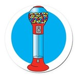gumball-machine.png Round Car Magnet