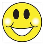 smiley-face.png Square Car Magnet 3