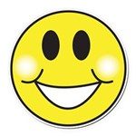 smiley-face.png Round Car Magnet