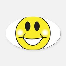 smiley-face.png Oval Car Magnet