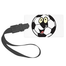 happy soccer ball belly.png Luggage Tag