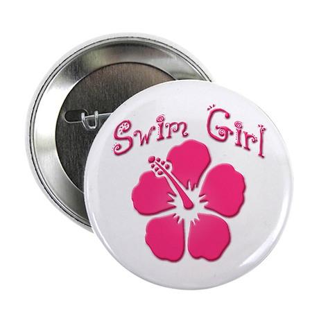 """Swim Girl - Dark Pink 2.25"""" Button (100 pack)"""