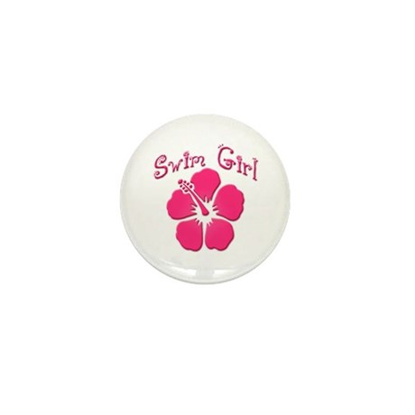 Swim Girl - Dark Pink Mini Button (100 pack)