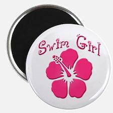 Swim Girl - Dark Pink Magnet