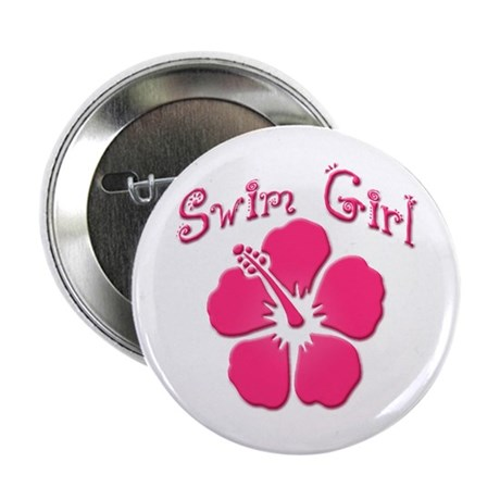 Swim Girl - Dark Pink Button