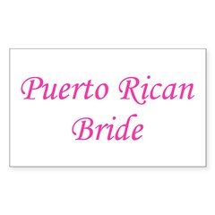 Puerto Rican Bride Rectangle Decal