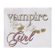 Vampire Girl-Wolf Girl Sparkly Throw Blanket