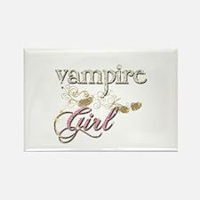 Vampire Girl Sparkly Rectangle Magnet