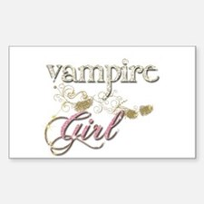 Vampire Girl Sparkly Decal