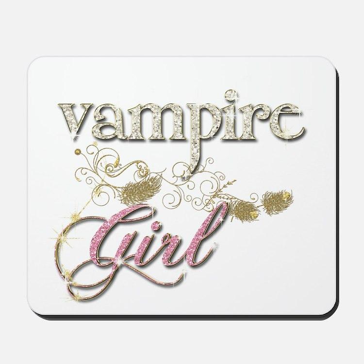 Vampire Girl Sparkly Mousepad