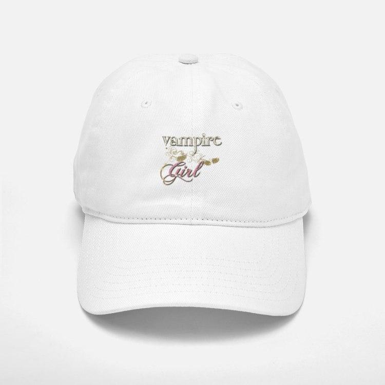 Vampire Girl Sparkly Baseball Baseball Cap