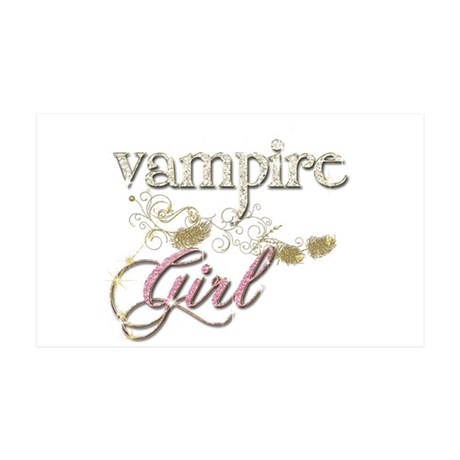 Vampire Girl Sparkly 35x21 Wall Decal