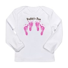Daddys Duo Twin Girls Long Sleeve Infant T-Shirt