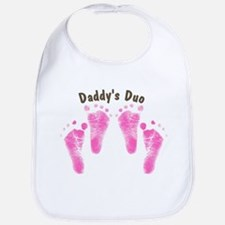 Daddys Duo Twin Girls Bib