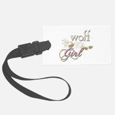 Wolf Girl Sparkly Luggage Tag
