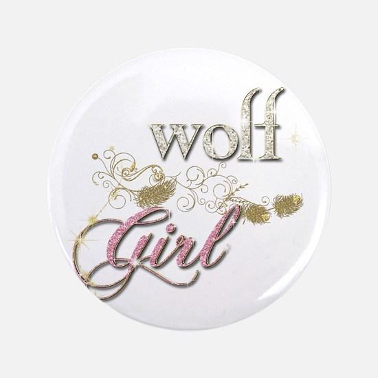 "Wolf Girl Sparkly 3.5"" Button"