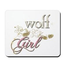 Wolf Girl Sparkly Mousepad
