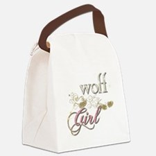 Wolf Girl Sparkly Canvas Lunch Bag