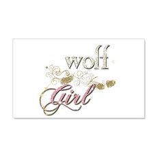 Wolf Girl Sparkly Wall Sticker