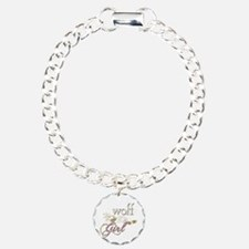 Wolf Girl Sparkly Charm Bracelet, One Charm