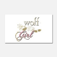 Wolf Girl Sparkly Car Magnet 20 x 12