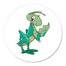 cute grasshopper eating leaf copy.jpg Round Car Ma