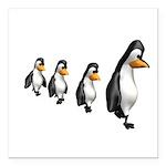 penguin parade copy.jpg Square Car Magnet 3