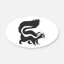 skunk copy.jpg Oval Car Magnet