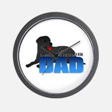 Black Labrador Retriever Dad Wall Clock