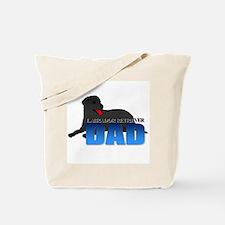 Black Labrador Retriever Dad Tote Bag