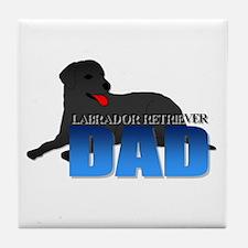 Black Labrador Retriever Dad Tile Coaster