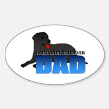 Labrador Retriever Dad Sticker (Oval)